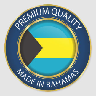 Made in Bahamas Flag, Bahamian Colors Classic Round Sticker