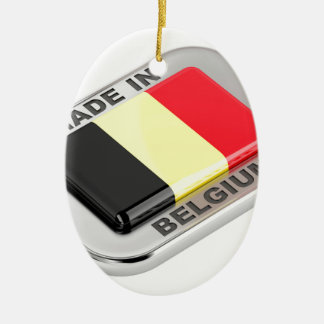 Made in Belgium Ceramic Ornament