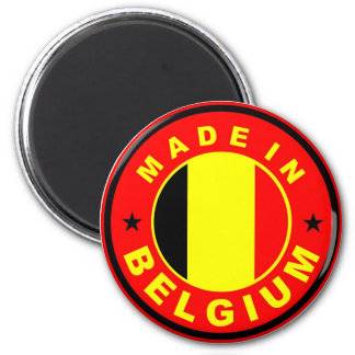 made in belgium country flag label stamp 2 inch round magnet