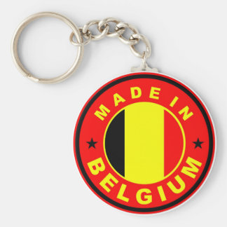 made in belgium country flag label stamp basic round button keychain