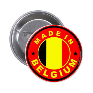 made in belgium country flag label stamp buttons