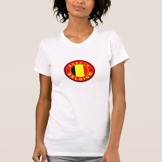 made in belgium country flag label stamp T-Shirt