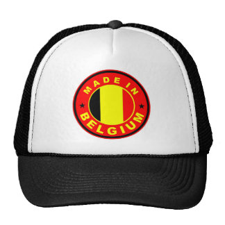 made in belgium country flag label stamp trucker hat
