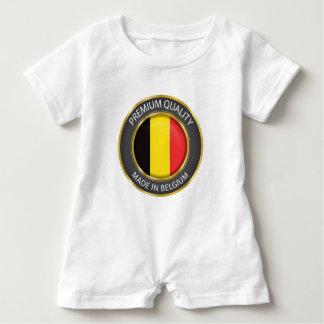 Made in Belgium Flag, Belgian Colors Baby Clothing Baby Romper