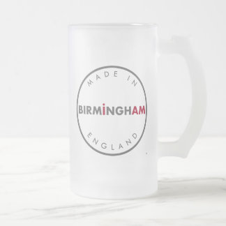 Made in Birmingham Frosted Glass Mug