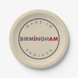 Made in Birmingham Paper Plates