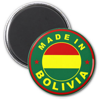 made in bolivia country flag label stamp magnet