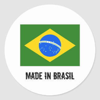 Made in Brasil big round stickers