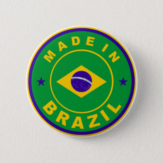 made in brazil country flag label stamp 2 inch round button