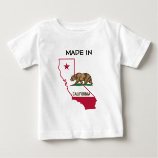 Made in California - Silhouette and Flag Baby T-Shirt