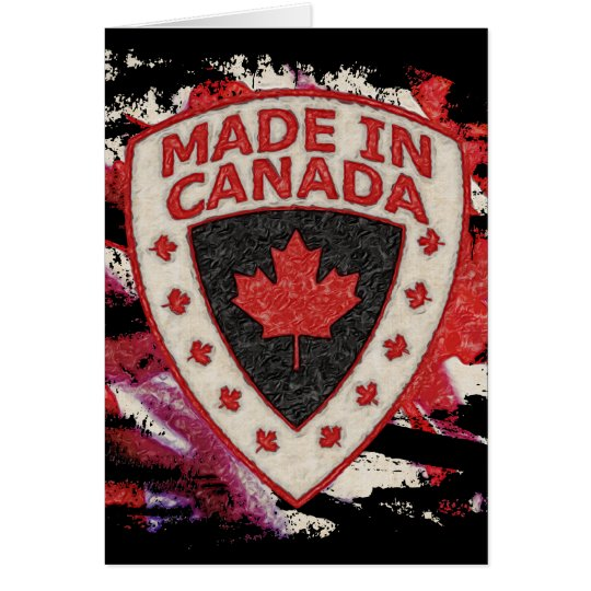 Made In Canada Card