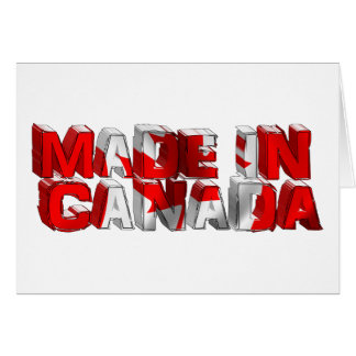 Made in Canada Flag Text Greeting Card