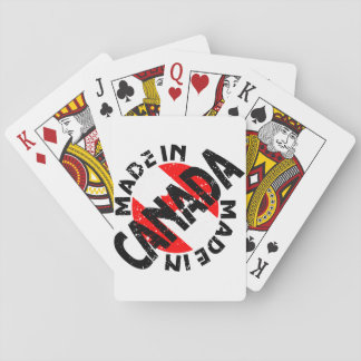 Made In Canada Label Playing Cards