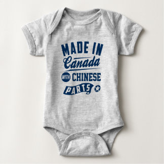 Made In Canada With Chinese Parts Baby Bodysuit