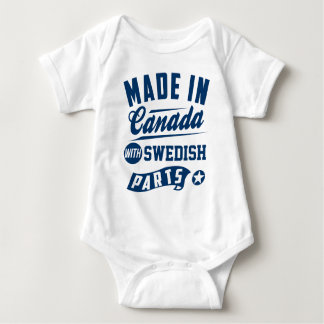 Made In Canada With Swedish Parts Baby Bodysuit