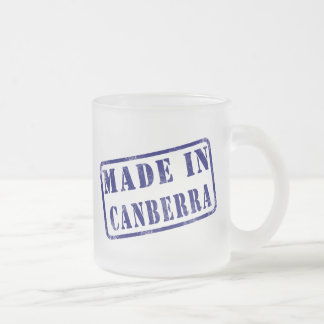 Made in Canberra 10 Oz Frosted Glass Coffee Mug