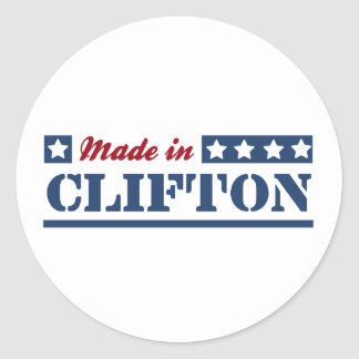 Made in Clifton Classic Round Sticker