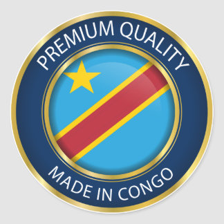Made in Congo Flag, Democratic Republic of Congo Classic Round Sticker