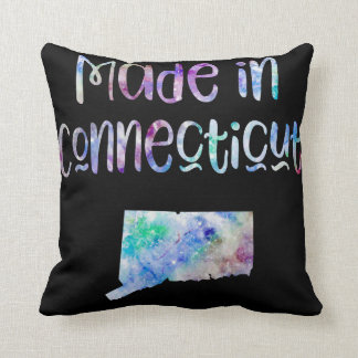 Made in Connecticut CT state Iridescent Opalescent Throw Pillow