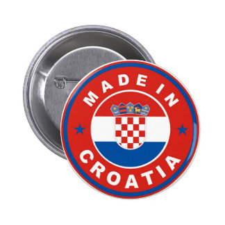 made in croatia country flag product label round 2 inch round button