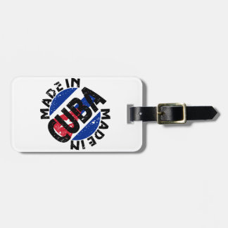 Made In Cuba Label Luggage Tags
