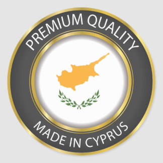 Made in Cyprus Flag, Cypriot Colors Seal Sticker
