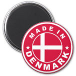 made in denmark country flag label round stamp magnets