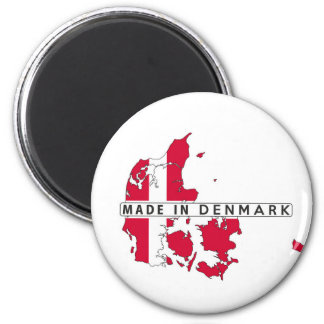 made in denmark country map shape flag label magnet