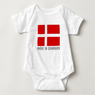 Made in Denmark Danish flag baby jumpsuit clothes Baby Bodysuit