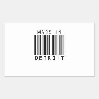 Made in Detroit Barcode Sticker