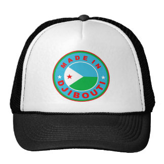 made in djibouti country flag product label round trucker hat