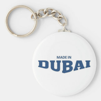 Made in Dubai Basic Round Button Keychain
