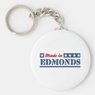 Made in Edmonds Basic Round Button Keychain