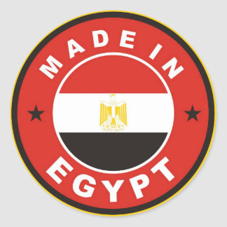 made in egypt country flag label round stamp