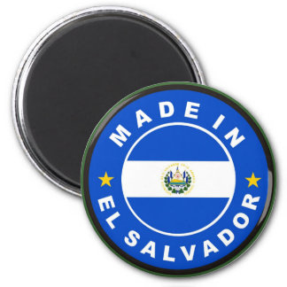 made in el salvador country flag product label 2 inch round magnet