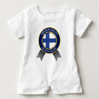 Made in Finland, Finnish Flag Baby Romper