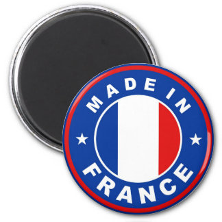 made in france country flag label round stamp 2 inch round magnet