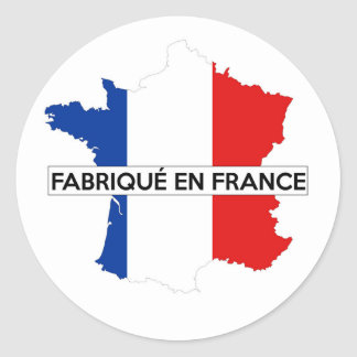 made in france country map flag label fabrique