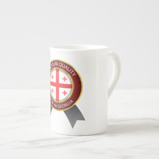 Made in Georgia Flag, Georgian Flag Seal Icon Tea Cup