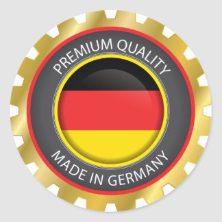 Made in Germany Flag, German Colors Seal