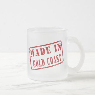 Made in Gold Coast 10 Oz Frosted Glass Coffee Mug