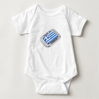 Made in Greece badge Baby Bodysuit
