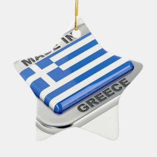 Made in Greece badge Ceramic Ornament