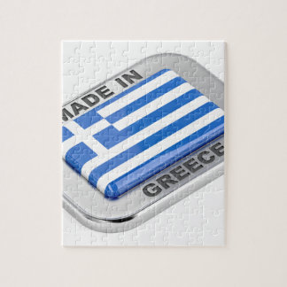 Made in Greece badge Jigsaw Puzzle