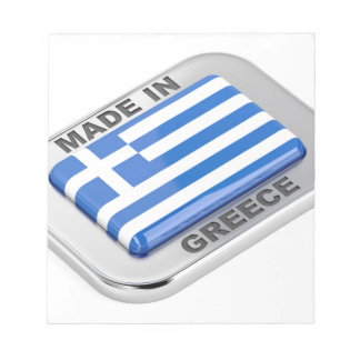 Made in Greece badge Notepad