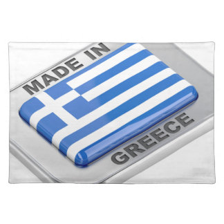 Made in Greece badge Placemat