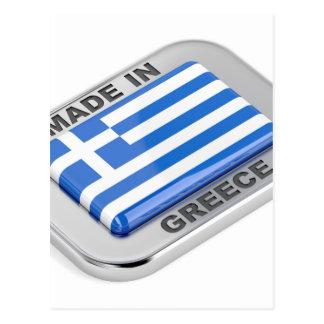 Made in Greece badge Postcard