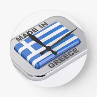 Made in Greece badge Round Clock