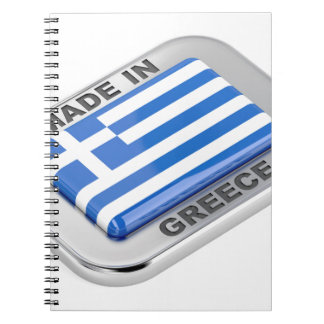 Made in Greece badge Spiral Notebook