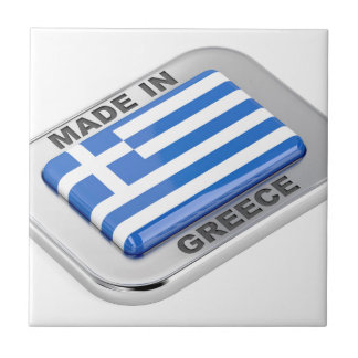 Made in Greece badge Tile